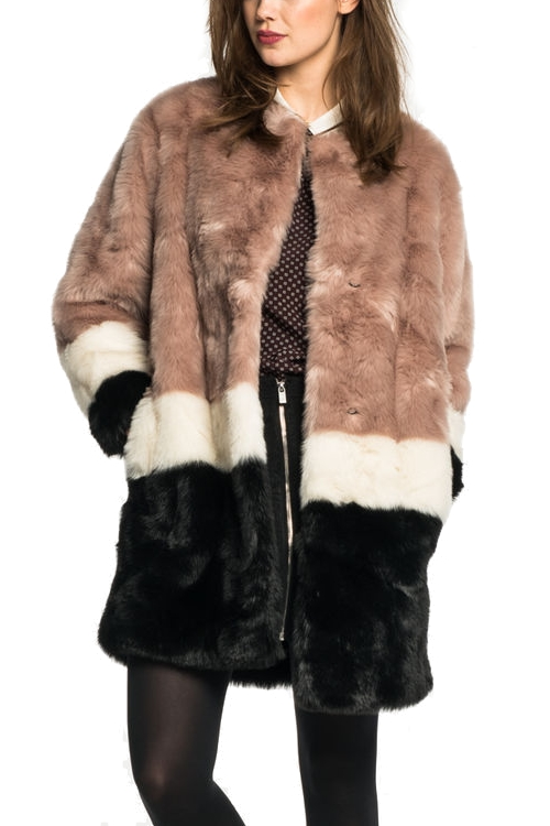 Faux fur coat Scotch&Soda